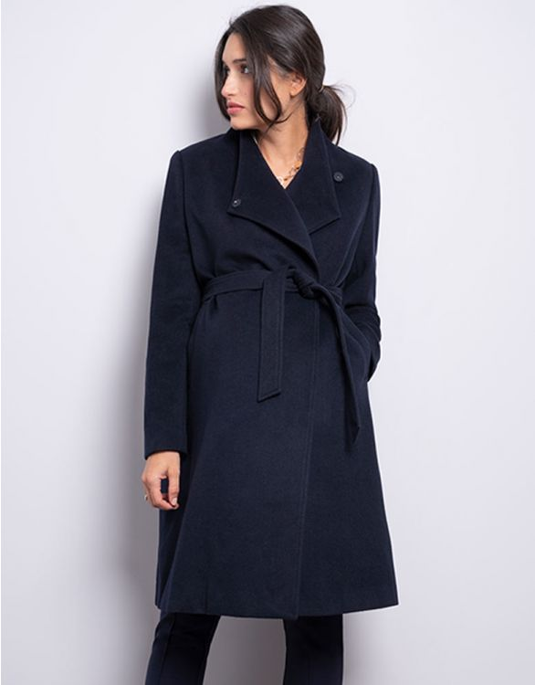 Image for Wool Navy Blue Maternity Coat