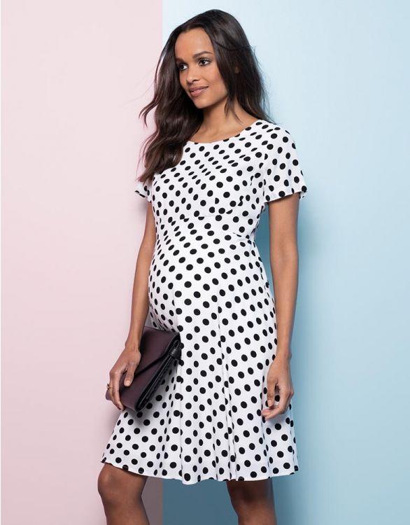 Image for Polka Dot Maternity Dress