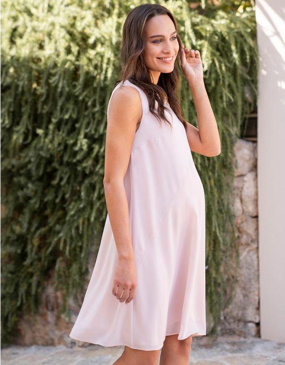 Image for Blush Pink Chiffon Maternity Dress