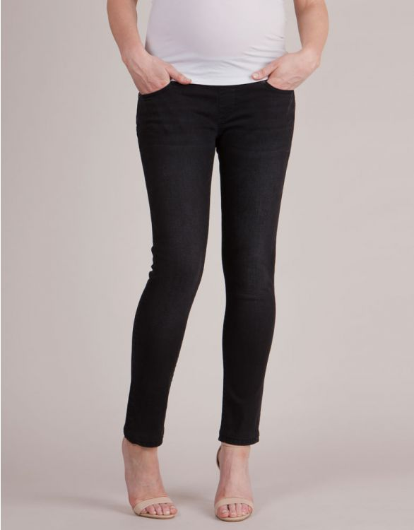 Image for Under Bump Slim Black Maternity Jeans
