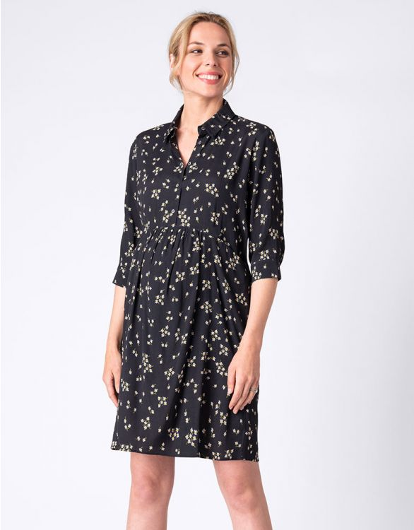 Image for Daisy Print Maternity & Nursing Dress