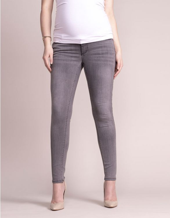 Image for Grey Over Bump Skinny Maternity Jeans