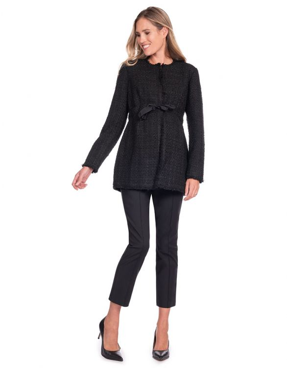 Image for Black Bouclé Maternity Jacket