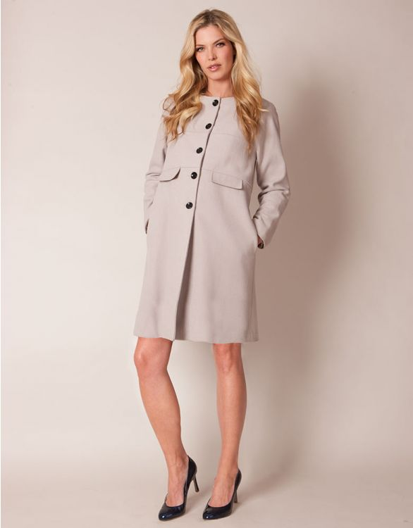 Image for Blush Cashmere Blend Maternity Coat