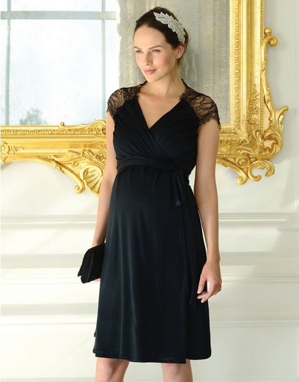 Image for Lace Detail Wrap Maternity Dress