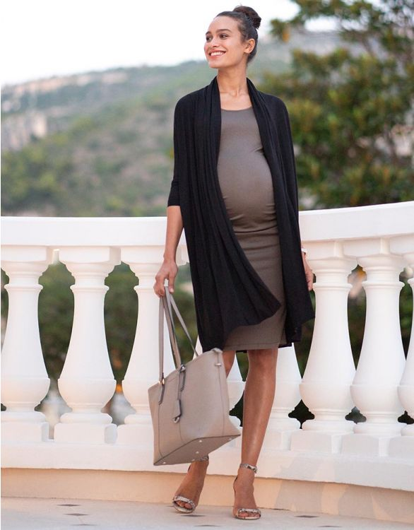 Image for Bodycon Maternity Dress with Waterfall Cardigan