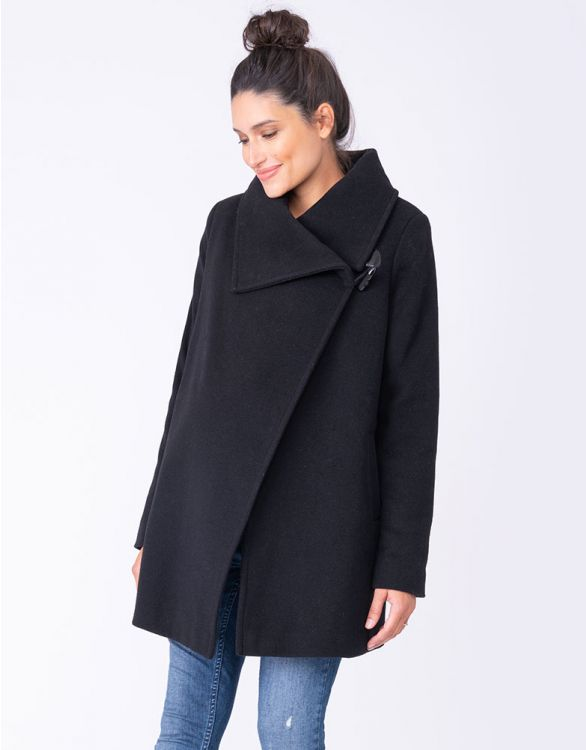 Image for Black Wool & Cashmere Maternity Coat