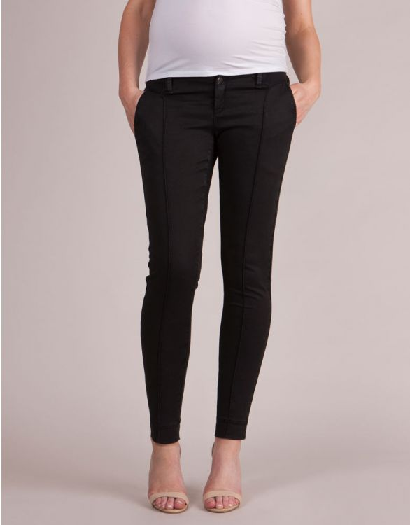 Image for Cropped Black Maternity Trousers