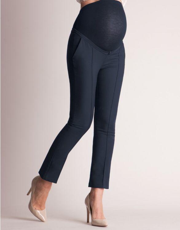 Image pour Pantalon grossesse coupe 7/8 - Bleu marine