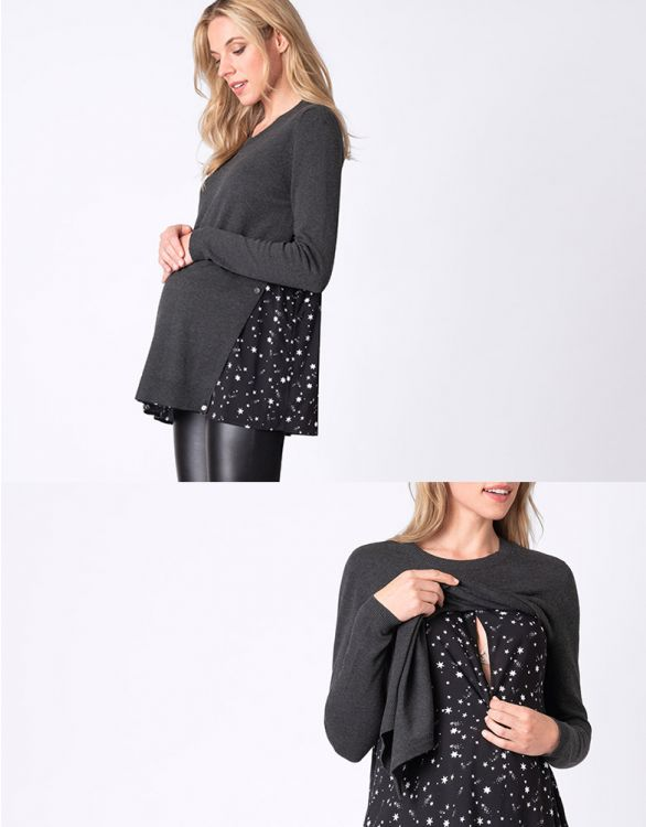 Image for Night Sky Maternity & Nursing Jumper