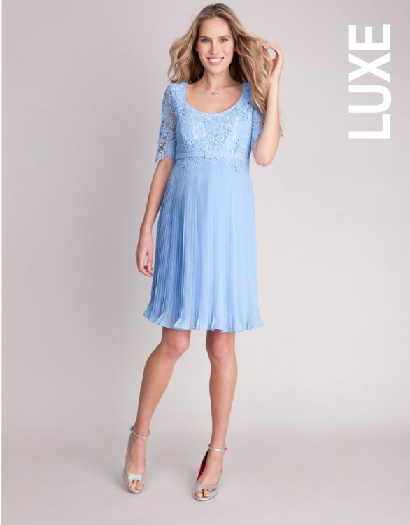 Image for Lace Top Pleated Maternity Dress