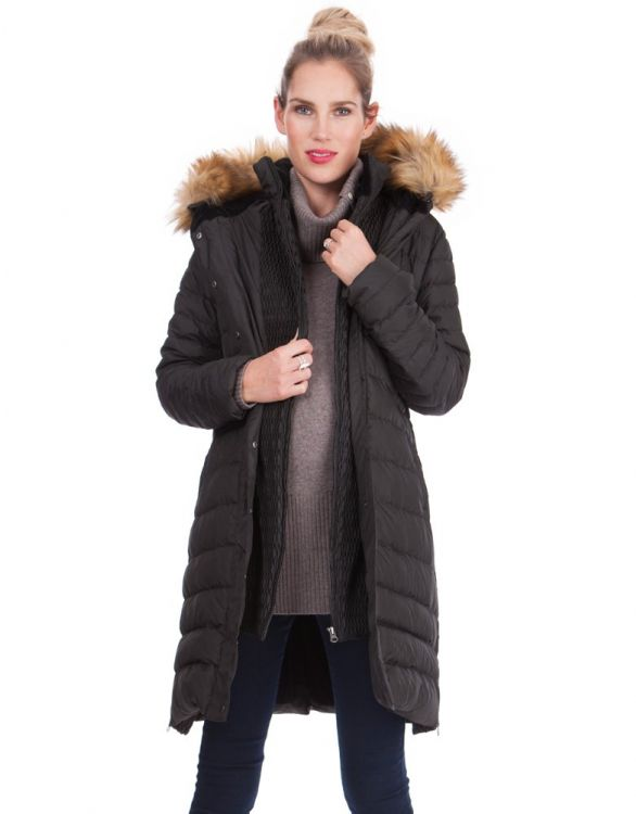 Image for Super-Warm Down Maternity Coat