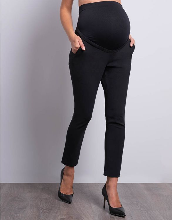 Image for Cropped Maternity Pants Black