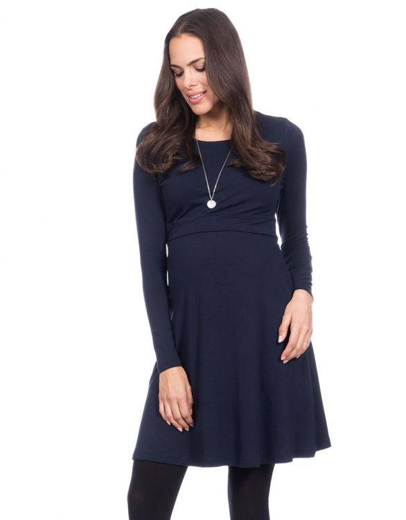 Image pour Robe grossesse jersey stretch – Bleu marine