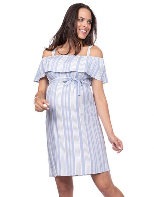 Immagine per  Striped Cold Shoulder Maternity Dress