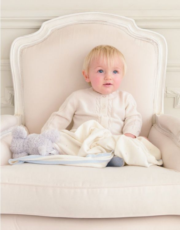 Image for Cashmere Cream Cable Knit Baby Cardigan