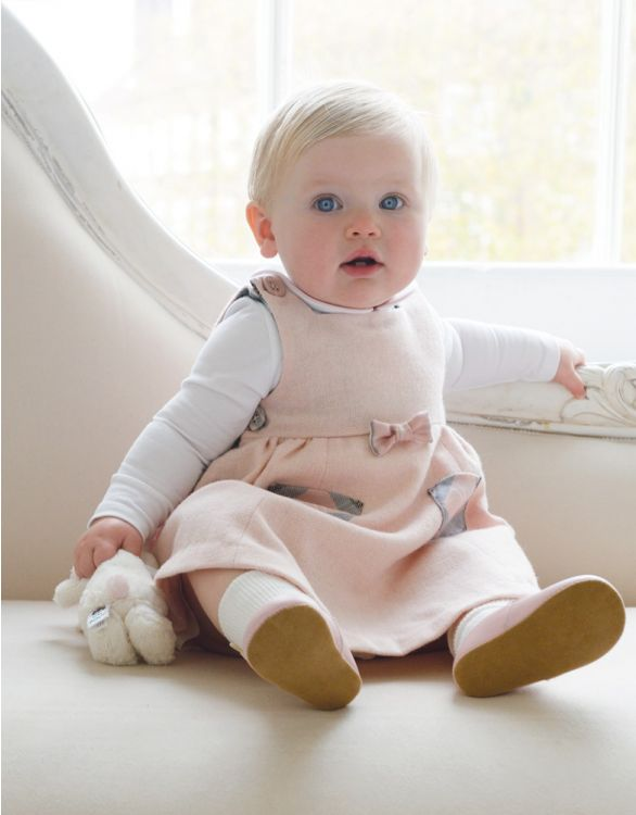 Image for Pink Tartan Baby Pinafore Dress
