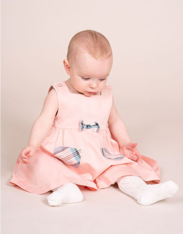Image for Pink Cotton Pinafore Baby Dress