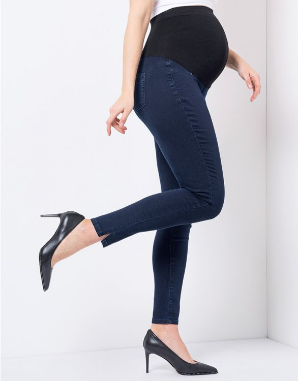 Image for Indigo Over Bump Super-Skinny Maternity Jeans