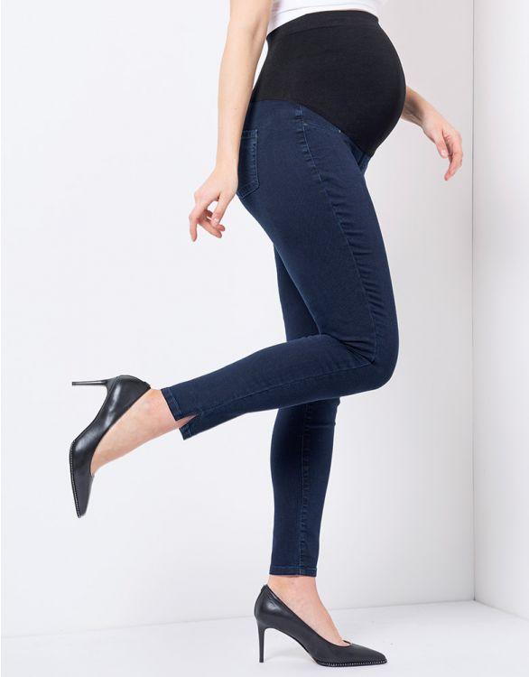 Image pour Jean grossesse super skinny - Bleu indigo