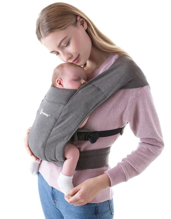 Image for Grey Ergobaby Embrace Newborn Baby Carrier