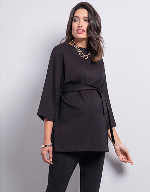Image for Black Ponte Maternity Top
