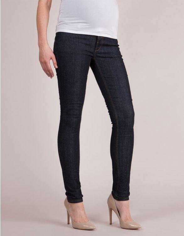 Image for Dark Over Bump Skinny Maternity Jeans
