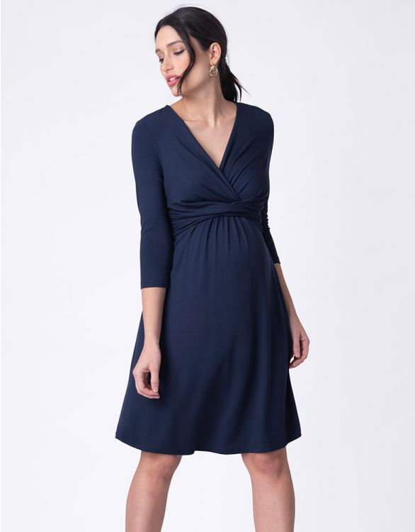 Image for Navy Blue Maternity Dress