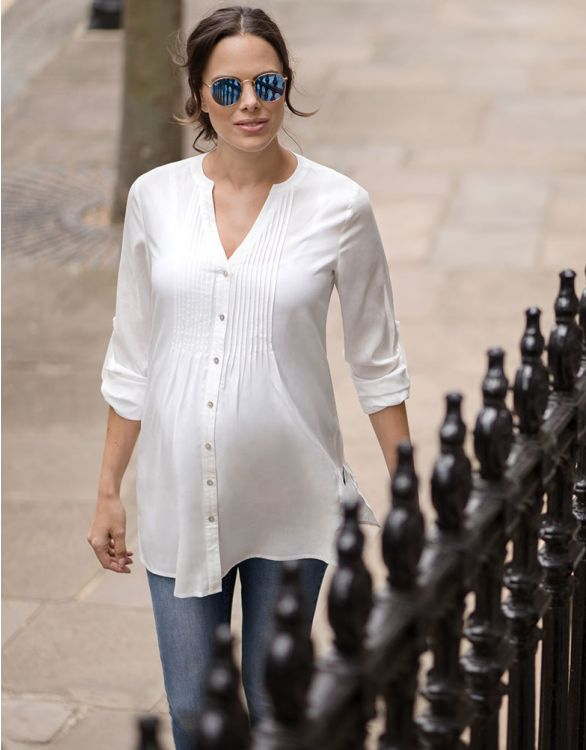 Image for Ivory Maternity Blouse