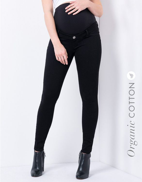 Image for Organic Cotton Over Bump Black Maternity Jeans