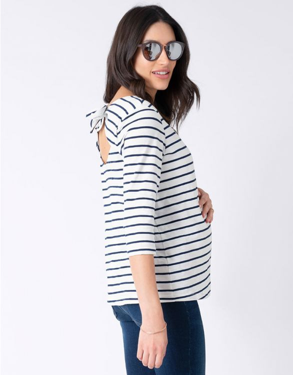 Image for Cotton Breton Open Back Maternity Top
