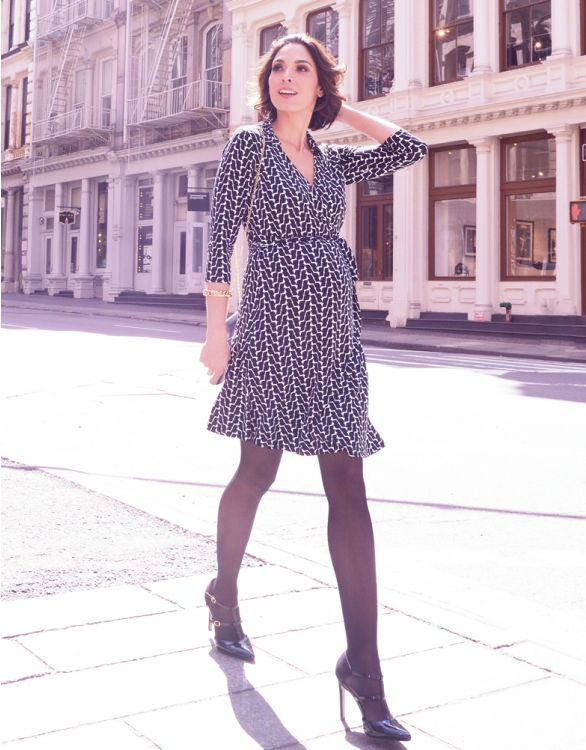 Image for Geo Print Maternity Wrap Dress