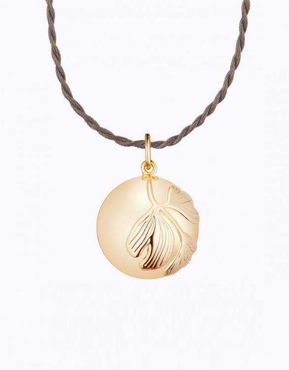 Image for Ginkgo Pregnancy Necklace Yellow Gold