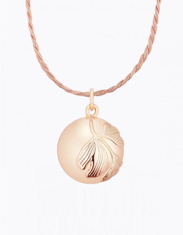 Bild für Ginkgo Halskette mit Klangkugel - Rotgold