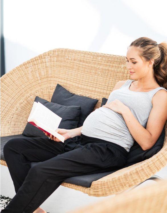 Image pour Pantalon sarouel grossesse – Noir