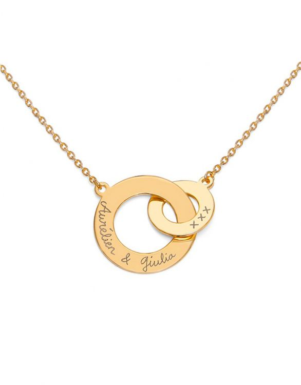 Image for Personalised Intertwined Necklace – Gold Plated