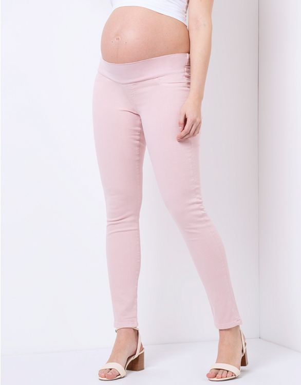 Image for Blush Pink Skinny Maternity Jeans