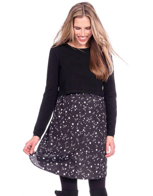 Image for Star Mock Jumper Maternity & Nursing Dress
