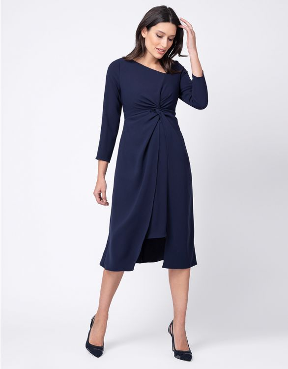 Image for Premium Knotted Maternity Midi Dress