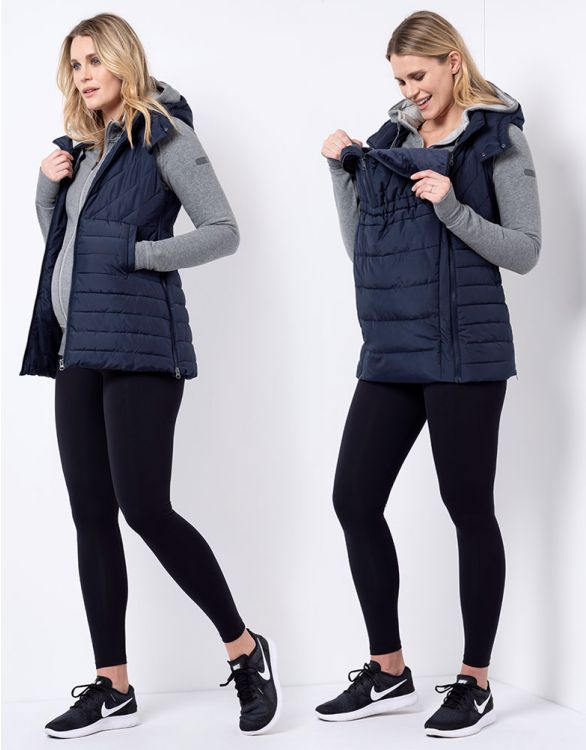 Image for Navy 3 in 1 Maternity Gilet