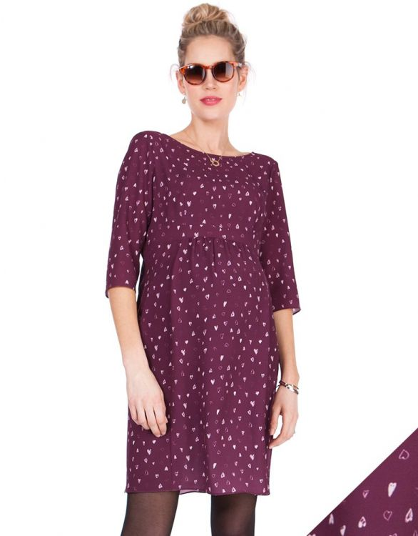Image for Love Hearts Woven Maternity Dress