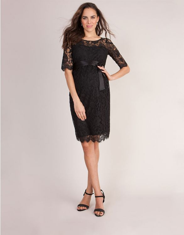 Image for Luxury Black Lace Maternity Cocktail Dress
