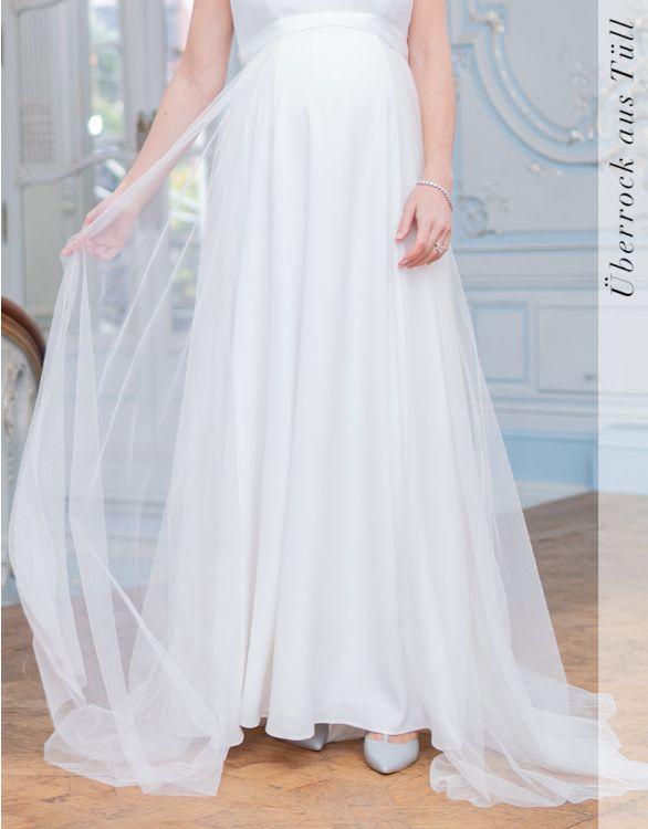 Bild für Brautüberrock aus Tüll