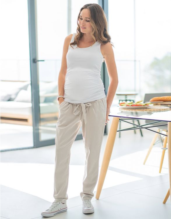 Image for Sand Under Bump Maternity Chinos