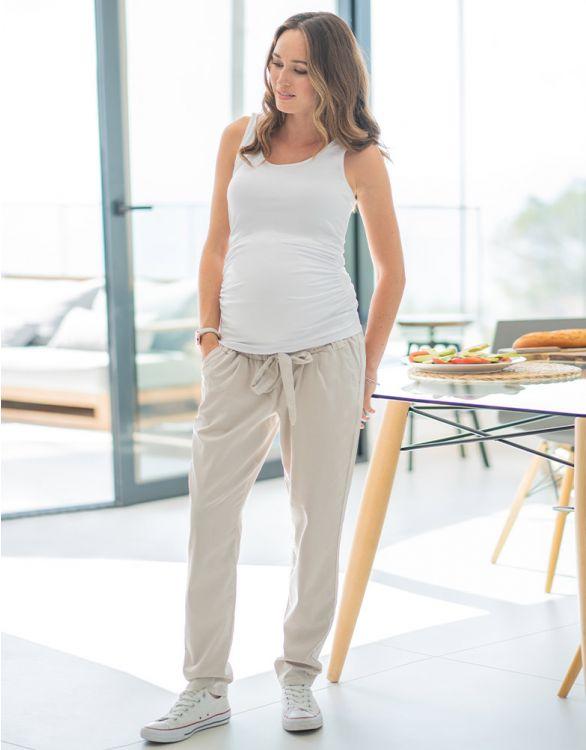 Image pour Pantalon de grossesse chino - Beige