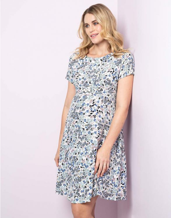 Image for Floral Print Woven Maternity Dress