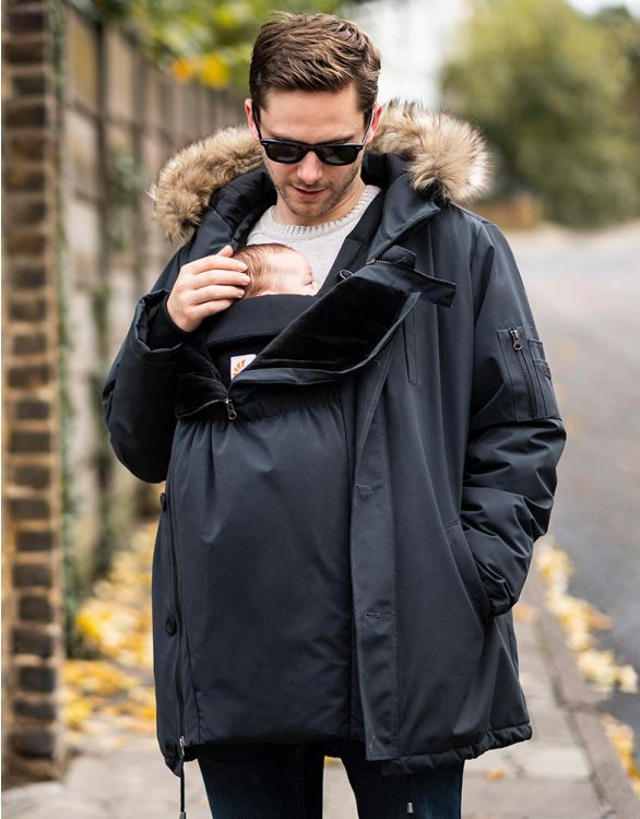 Image for Men's Parka with Baby Pouch