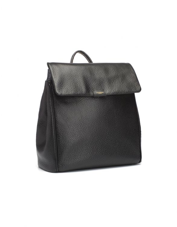 Image for Storksak St James Leather Convertible Backpack Black