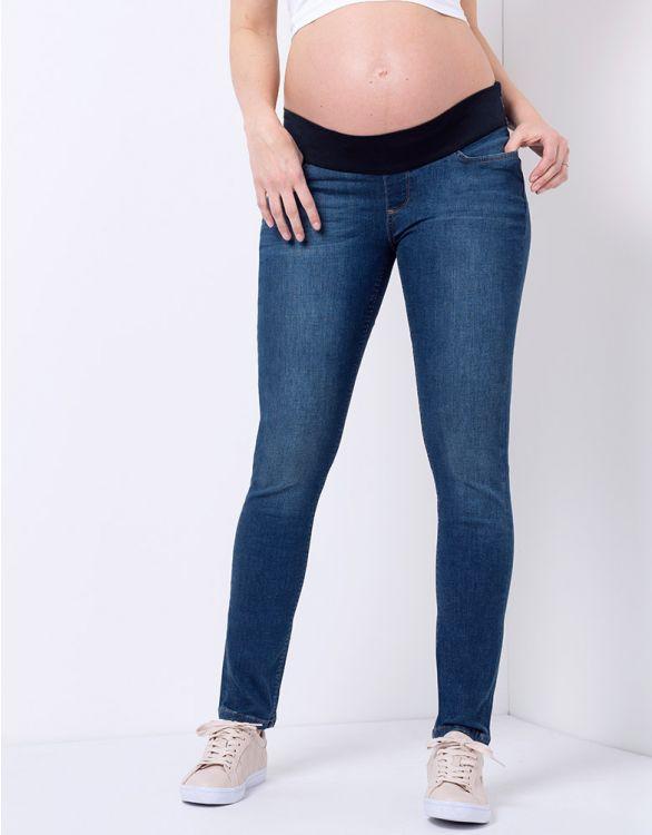 Image pour Jean grossesse skinny foncé délavé