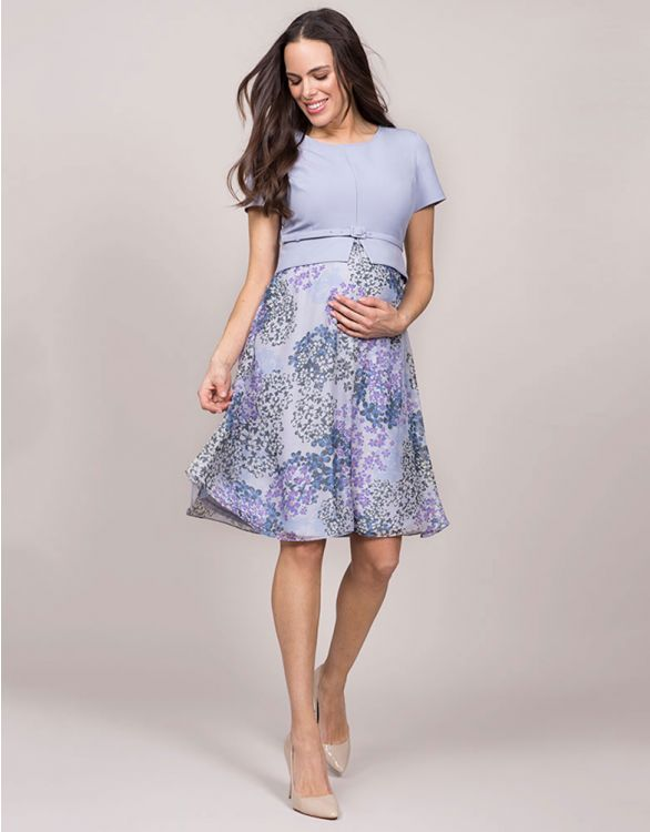Image for Lavender Silk Maternity & Nursing Dress